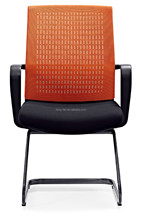 Modern mesh fabric design office chair with metal shelf staff chair 6233