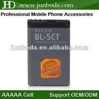 Mobile phone batteries BL-5CT For Nokia 5220 6303c 6730 with 1050mah