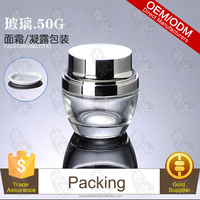Best Face Slimming Cream Packed In 50g Glass Jar With Sliver Cap