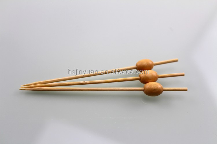 bamboo fruit pick/stick/skewer HOT SALE ,small wooden bead