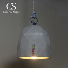 Antique style simple cement hanging lamp pendant light vintage