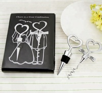 Cheers To A Great Combination Corkscrew Wine Bottle Opener and Stopper Set Wedding Gifts