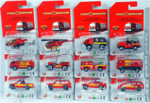 diecast car set 1:64 alloy fire truck collectible metal models cars