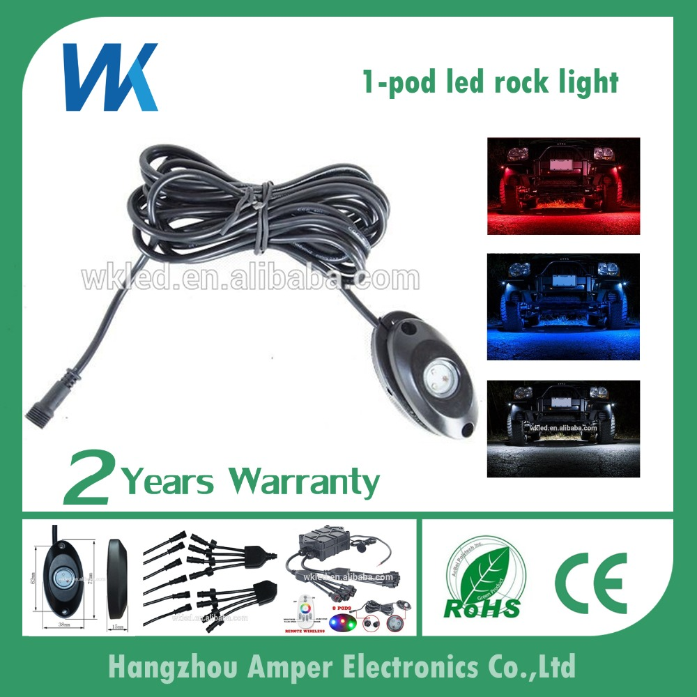 Single pod ip68 waterproof CE ROHS approved 12 volt boat yacht deck light jeep auto rock led light