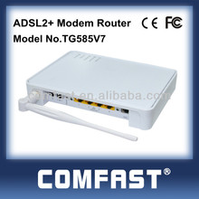Thomson V7 4 ports modem router adsl2+ wireless ADSL modem router for wholesale/retail...