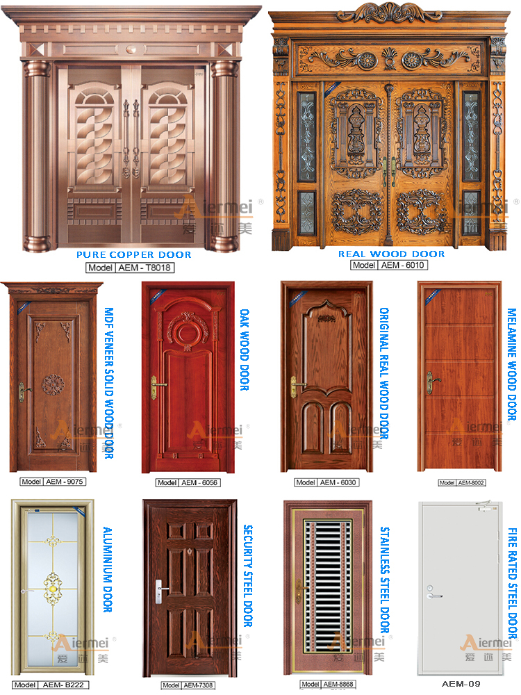 Fireproof interior wood door residential apartment fire for Residential main door design