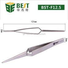 Top quality x type self closed stainless steel tweezers for computer repair tools