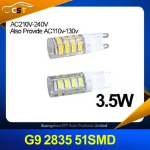 Hot Sale !!! Factory Price Dimmable LED Light Bulb G9 2835 51SMD AC110-220V 360 Degree Super Bright G9 Led Light Bulb