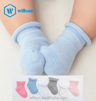 wholesale custom Fashion Good quality Cotton children socks solid colour comfortable soft touch newborn fuzzy baby socks