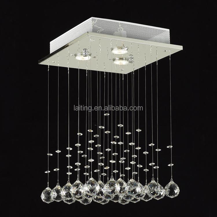 "Modern Chandelier ""Rain Drop"" Lighting Crystal Ball FIXTURE PENDANT CEILING LAMP"