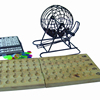Deluxe Bingo Set - 6-Inch Metal Cage with Calling Board, 75 Colored Balls 300 Bingo Chips 50 Bingo Cards for Large Group Game