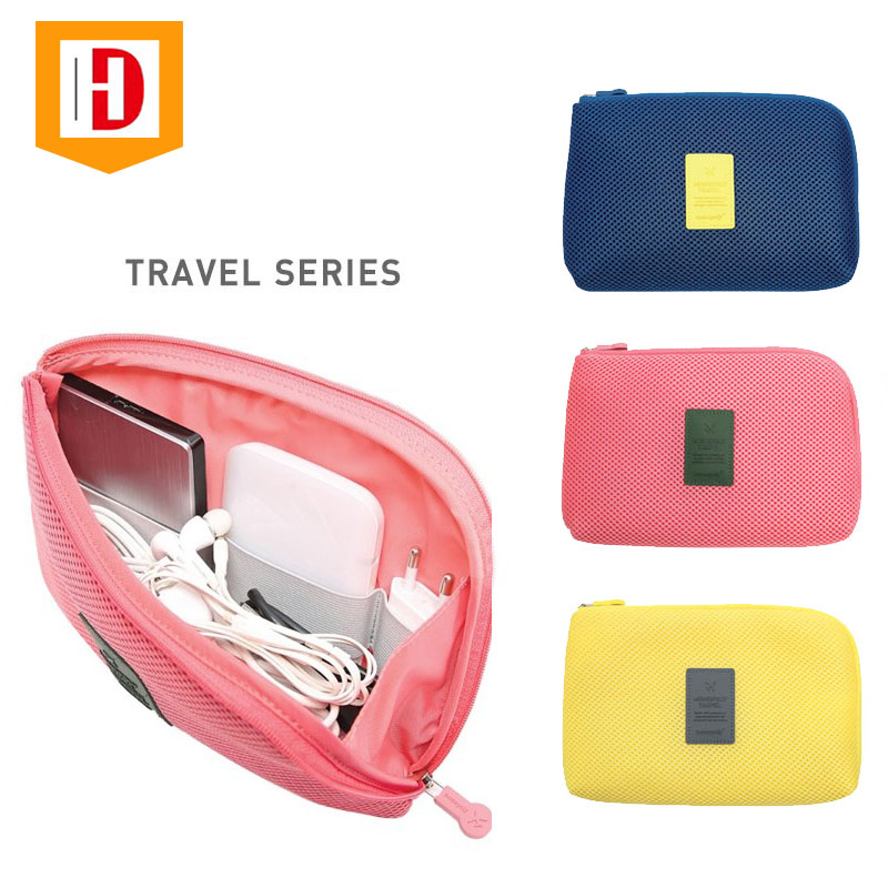 Protable Power Bank Wire Cable Headset Travel Home Digital Accessories Storage Bag