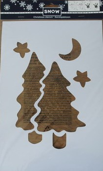 Christmas Tree Stencil for Christmas Decoration