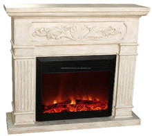 CE Approved Antique Used led displays Polystone Mantel Electric Fireplace with Big Size