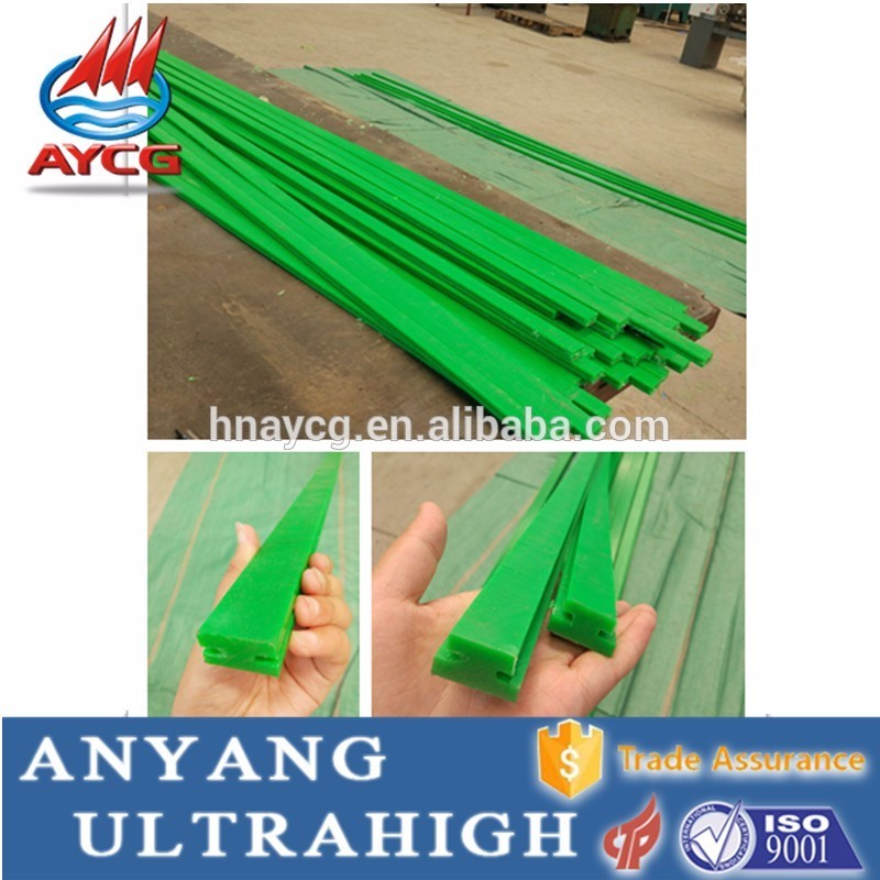 Customized Plastic <strong>rail</strong> self-lubricating UHMW-PE conveyor guide <strong>rail</strong> for chain