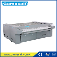 School/Hospital/Hotel Laundry Flatwork Ironer Machine for Sale ( Gas heating,Single Roller,2500mm) high quality made in China
