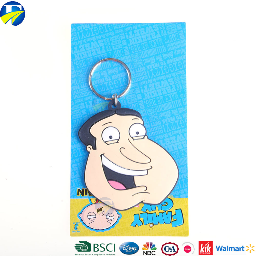 FJ brand cheap wholesale character avatar key rings metal rings for kids key chain