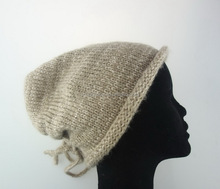 High quality modern professional women knitted hat visor pattern