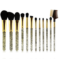 Easy to carry glitter makeup brush kit Crystal handle custom logo cheap factory price