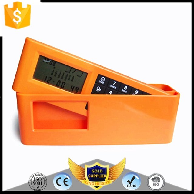 KH-0162 Promotion Pen Holder Table Desk Time Alarm with Desktop Calendar Digital Clock Calculator