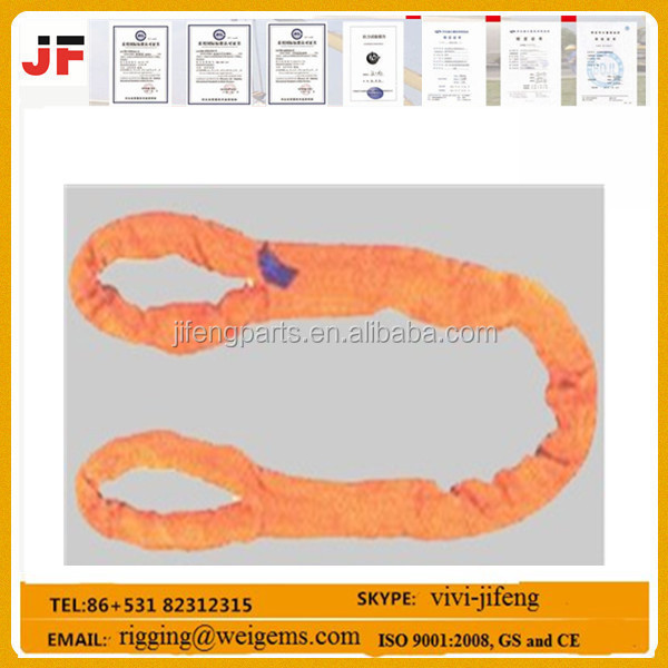 2t high safety polyester round sling/web sling/lifting belt safety belt for lifting