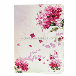 Hot Flowers Leather Skin TPU Inner Case for iPad Pro