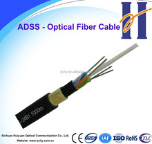All Dielectric single mode Self-supporting Aerial ADSS cheap price 48 fiber optic cable per meter price
