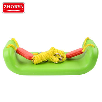 zhorya plastic green single seat outdoor children garden swing