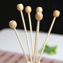 Wooden Bead Whorl Ball with Stick Fragrance Oil Diffuser Accessory TS-RD131A