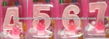 Wholesale Pink Number 1 Glitter Candle, available in 1 2 3 4 5 6 7 8 9 0 Kids Birthday Partyware Party Supplies