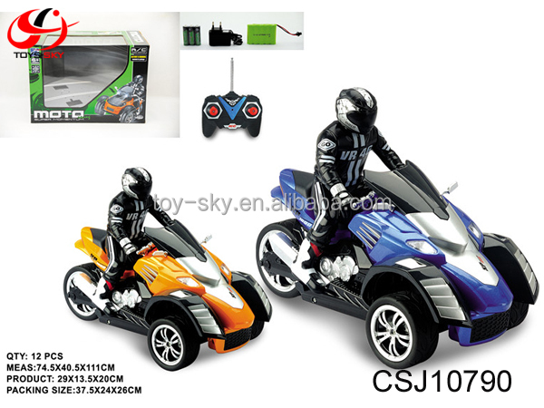 1 10 Kids Electric Motorcycle Rc Toy Three Wheel