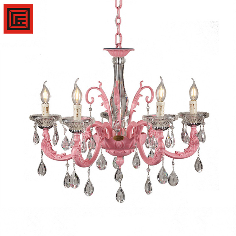 Wedding Decoration Pink Modern Lamps Shenzhen Lighting light with Ce K9 Crystal Chandelier