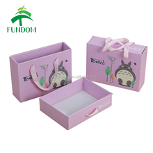 Alibaba china supplier custom made luxury matte elegant warm purple newborn baby gift box for clothes