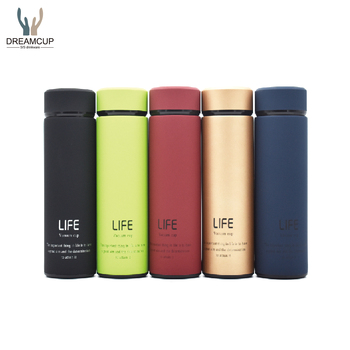 Double Wall Stainless Steel Insulated Thermos Vacuum Flask with Tea Infuser