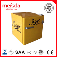 Mini Customized Commercial Bottle Wine Cooler 52L Single Door Beverage Retro Refrigerator
