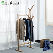 ESTILO OCCIDENTAL paño de bambú percha soporte para cama