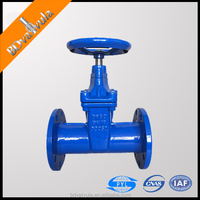 PN16 DN50-DN600 DIN3352 ductile iron non rising stem Gate Valves with spigot type