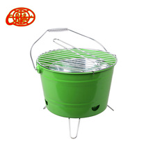Camping portable mini charcoal Bucket BBQ Grill