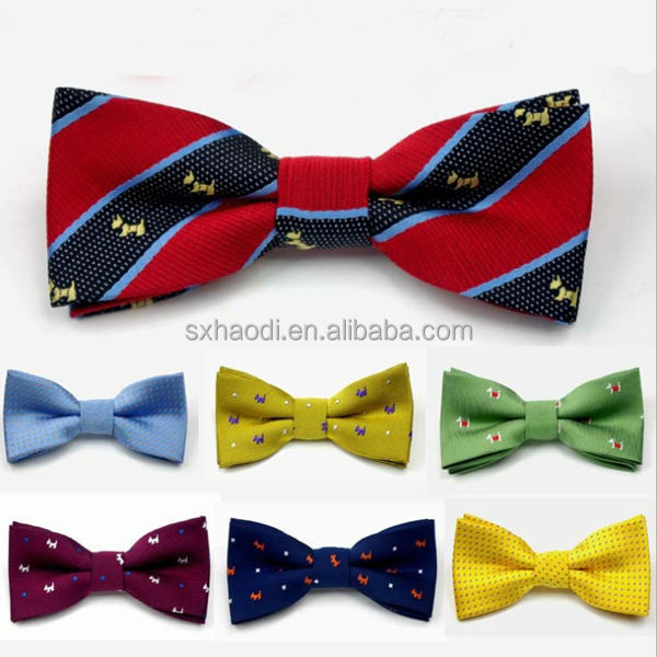 KID-C Safty pin Jacquard woven kid's bow tie/bowtie for children