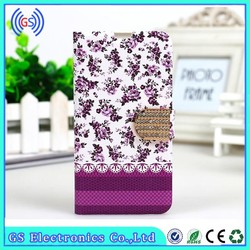 Customize Flower Printed Leather Case for ZTE Blade L2