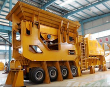 Durable mobile crushing machine with CE ISO