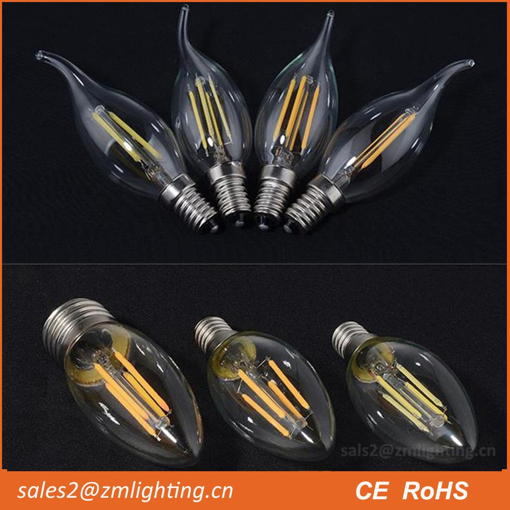 c7 c9 c14 c32 c35 c37 e14 4w c35 led filament bulb e12 4w led chandelier bulb filament dimmable