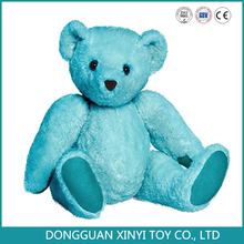 Hot sell Plush blue color mascot Teddy bear with movable arms and legs