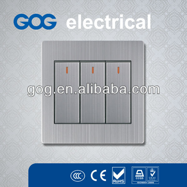2014 BS Stainless Steel (Metal) Electrical Wall Switch