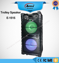 New design Remote control wholesale E-1515 wireless bluetooth active speaker with microphone