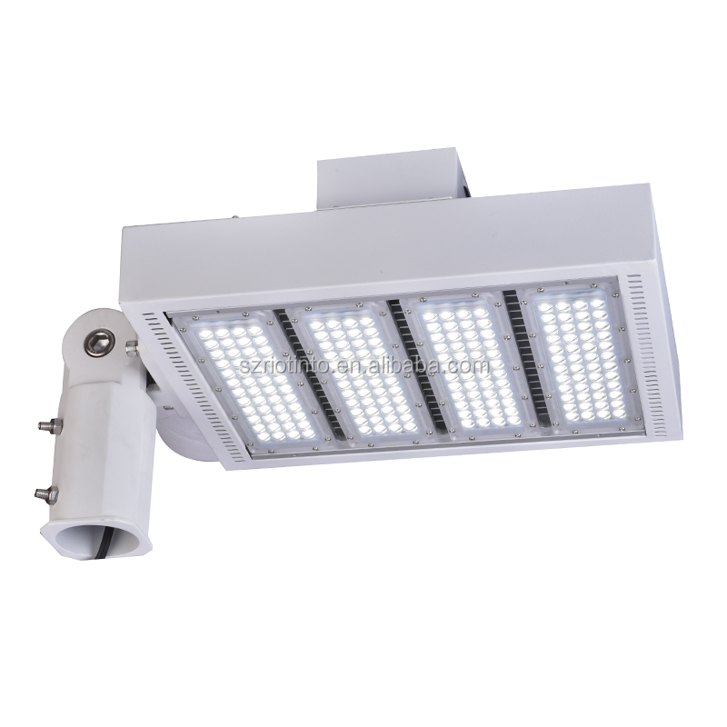 Outdoor tennis court shoebox led street light parking lot light fixture 240 UL DLC listed