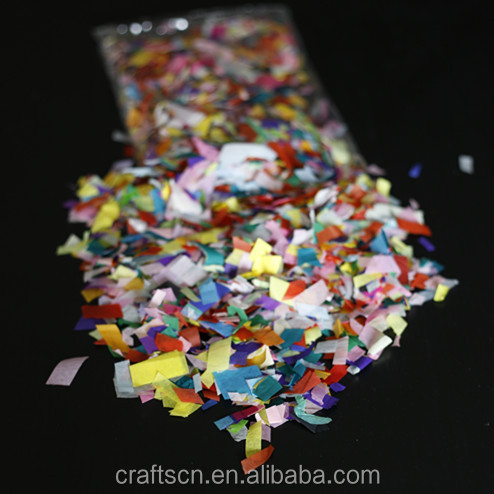 Chinese manufacturer biodegradable paper confetti for sale