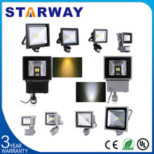 CE RoHS approved led outdoor flood light 10W/20W/50W PIR sensor 150 watt led flood light