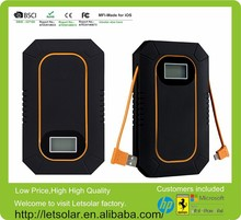 6000mAh battery pack portable solar charger for iPhone/iPad/all cellphones and tablets