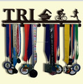 Triathlon medal hanger Swim,Bike,Run Race medal hanger